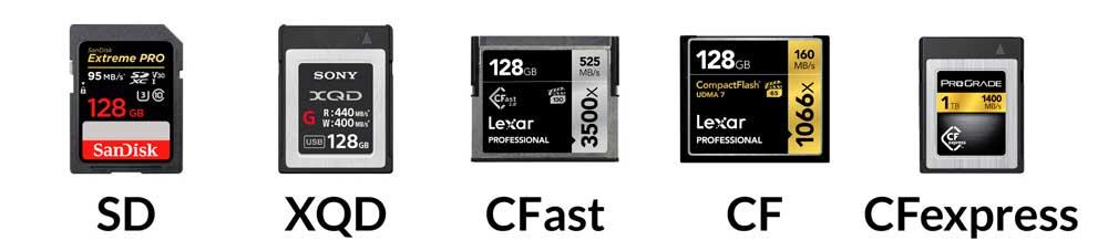 انواع کارتهای حافظه
