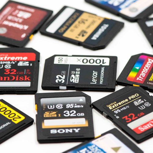 انواع کارت حافظه
